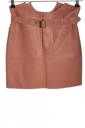 Ivivi Faux Leather Skirt pink casual look