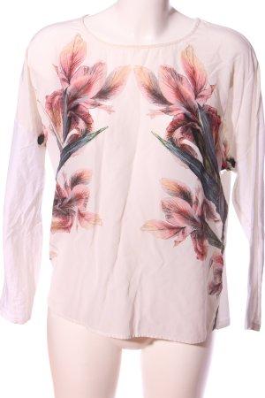 Ivivi Langarm-Bluse Blumenmuster Casual-Look