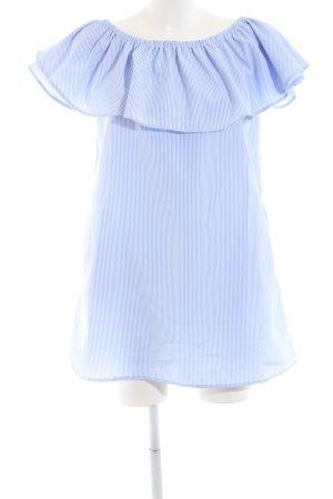 Ivivi Minikleid weiß-graublau Streifenmuster Casual-Look