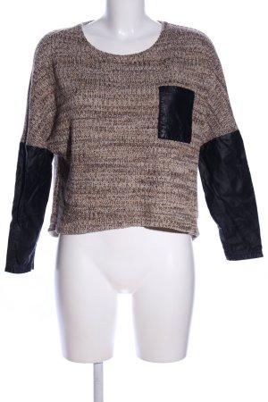 Ivivi Rundhalspullover bronzefarben-schwarz Casual-Look