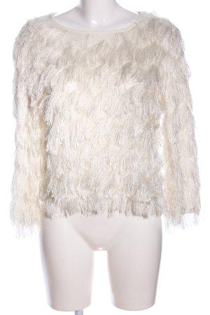 Ivivi Rundhalspullover weiß Elegant