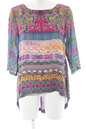 Ivko Schlupf-Bluse grafisches Muster Casual-Look