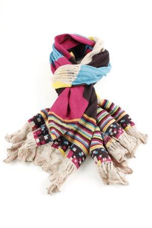 Ivko Gebreide sjaal grafisch patroon casual uitstraling
