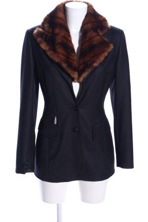 ivoire laurence Blazer en laine bleu-brun élégant
