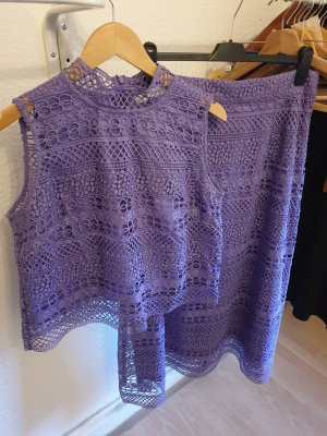 Ivy & Oak Falda de encaje púrpura