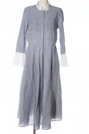 Ivy & Oak Hemdblusenkleid hellgrau-weiß Streifenmuster Elegant