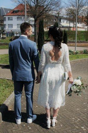 Ivy & Oak Suknia ślubna biały-w kolorze białej wełny