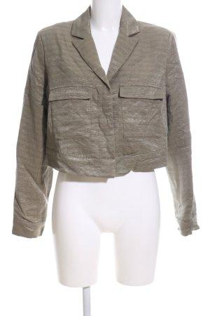 Ivy & Oak Kurz-Blazer bronzefarben Streifenmuster Casual-Look