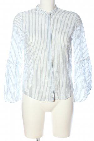 Ivy & Oak Langarm-Bluse weiß-blau Streifenmuster Casual-Look