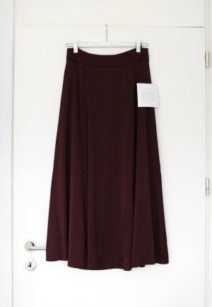 Ivy & Oak Rock Midi Skirt dunkelrot Satin Gr. 38 High Waist Vintage Look Neu mit Etikett