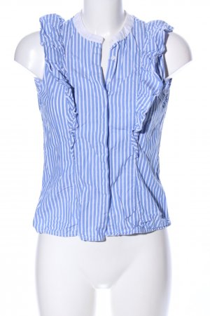 Ivy & Oak Rüschen-Bluse blau-weiß Streifenmuster Casual-Look