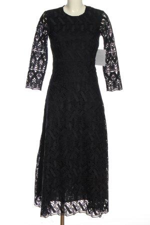 Ivy & Oak Spitzenkleid schwarz Webmuster Elegant