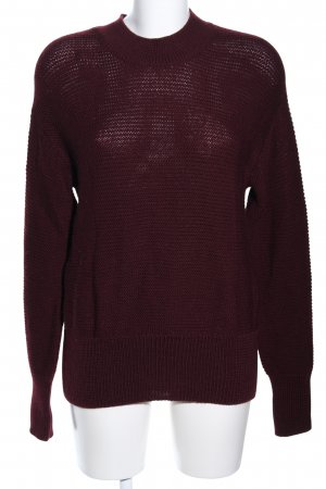 Ivy & Oak Strickpullover rot Zopfmuster Casual-Look