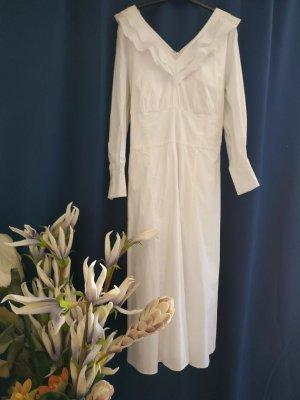 Ivy & Oak Robe à volants blanc coton