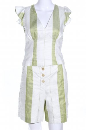 Ivy & Oak Web Twin Set weiß-khaki Streifenmuster Business-Look