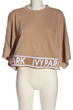 Ivy Park Cropped Shirt wollweiß-weiß Schriftzug gedruckt Casual-Look