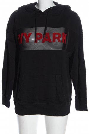Ivy Park Kapuzensweatshirt schwarz-rot Schriftzug gedruckt extravaganter Stil