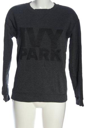 Ivy Park Rundhalspullover hellgrau Schriftzug gedruckt Casual-Look