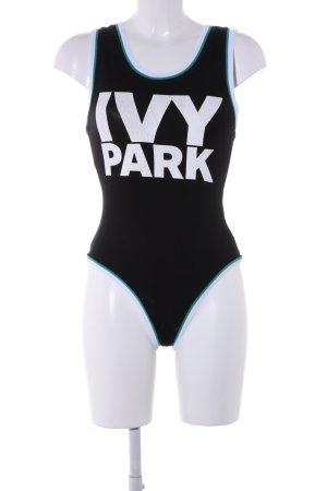 Ivy Park Shirtbody schwarz-weiß Schriftzug gedruckt extravaganter Stil