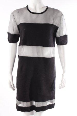 Ivy Rebel Vestido estilo camisa negro-color plata