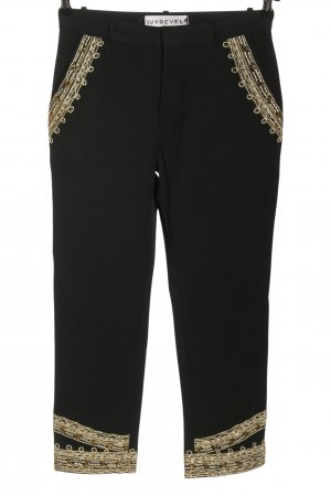 Ivyrevel Pantalone a 7/8 nero-oro stile casual