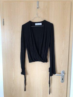 IvyRevel Bluse mit V-Ausschnitt und Bändern an den Armenden