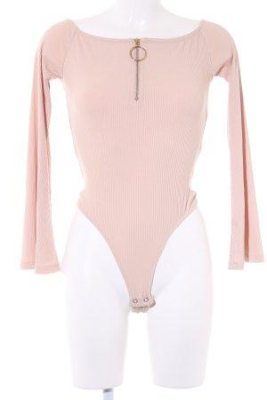 Ivyrevel Blusen-Body nude Streifenmuster extravaganter Stil