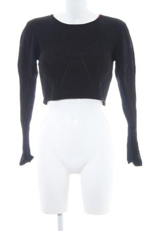 Ivyrevel Cropped Shirt schwarz grafisches Muster Elegant