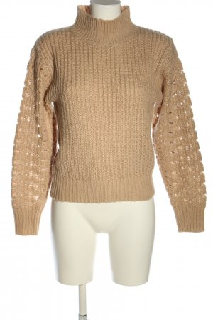 Ivyrevel Grobstrickpullover nude Zopfmuster Casual-Look