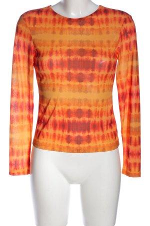 Ivyrevel Longsleeve hellorange-blassgelb abstraktes Muster Casual-Look