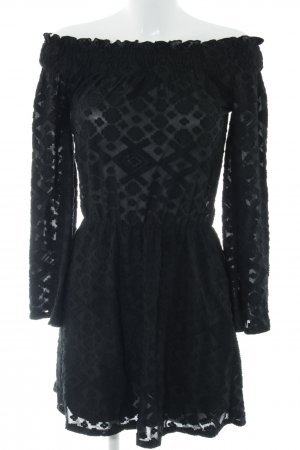 Ivyrevel Minikleid schwarz abstraktes Muster extravaganter Stil