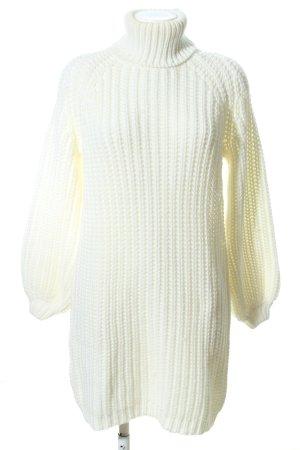 Ivyrevel Jersey de cuello alto blanco puro punto trenzado look casual