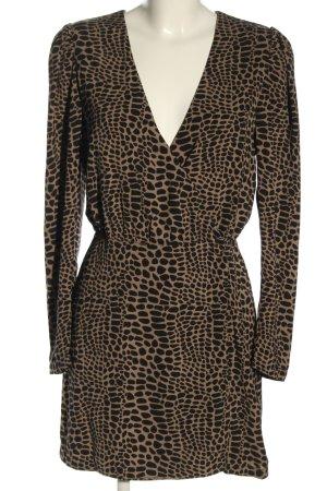 Ivyrevel Vestido cruzado marrón-negro look casual