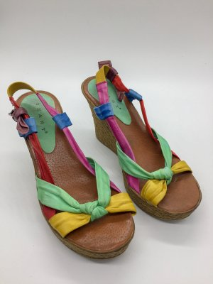 Platform Sandals multicolored synthetic material