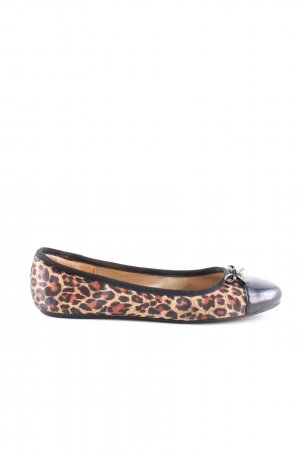 Ixos Ballerines en cuir verni motif léopard style décontracté