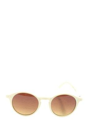 Izipizi Okrągłe okulary przeciwsłoneczne kremowy W stylu casual
