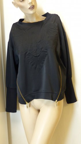 Sweat Shirt black-gold-colored polyester