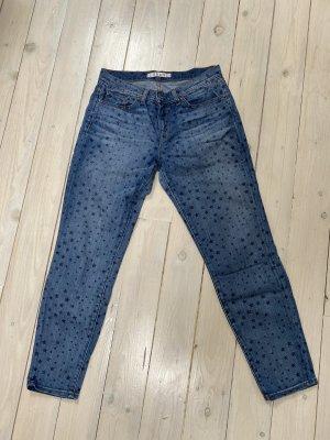 J brand Jeansy 7/8 ciemnoniebieski-niebieski