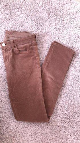J brand Pantalone cinque tasche marrone-marrone chiaro Velluto a coste