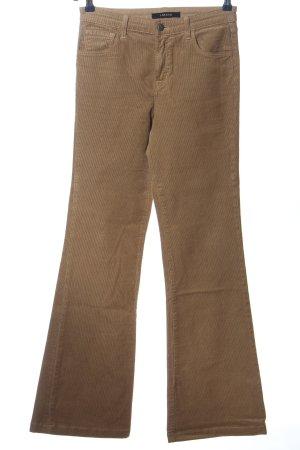 J brand Pantalone di velluto a coste marrone stile casual