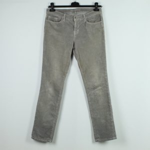 J brand Pantalon en velours côtelé argenté coton