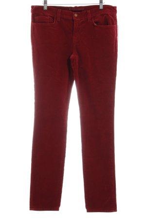 J brand Pantalón de pana rojo estilo sencillo