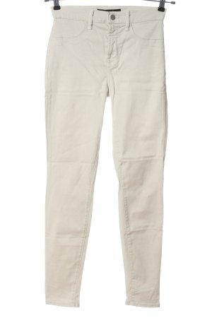 J brand Pantalone a vita alta bianco stile casual