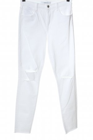 J brand Jeans a vita alta bianco stile casual