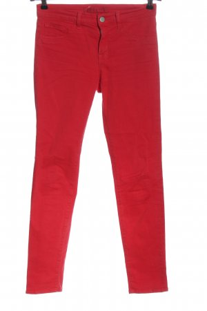 J brand Low-Rise Trousers red striped pattern casual look