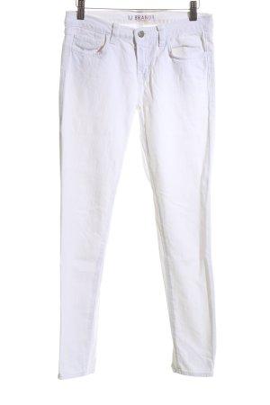 J brand Jeans vita bassa bianco stile casual