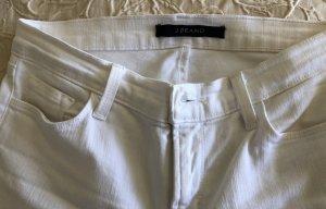 J brand Jeans cigarette blanc coton