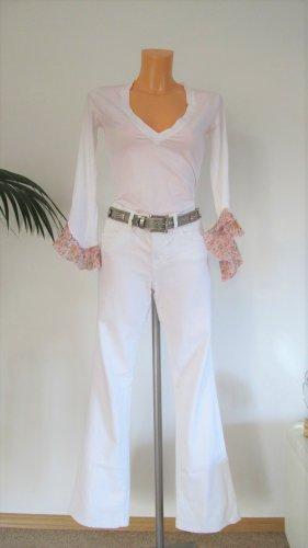 J brand Vaquero de corte bota blanco tejido mezclado