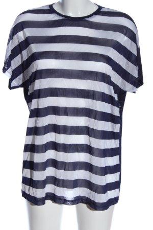 J brand Maglietta a righe blu-bianco puntinato stile casual