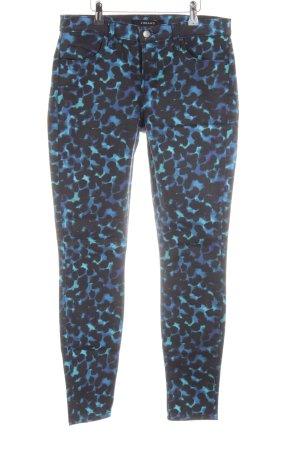 J brand Skinny Jeans blau-türkis abstraktes Muster Casual-Look